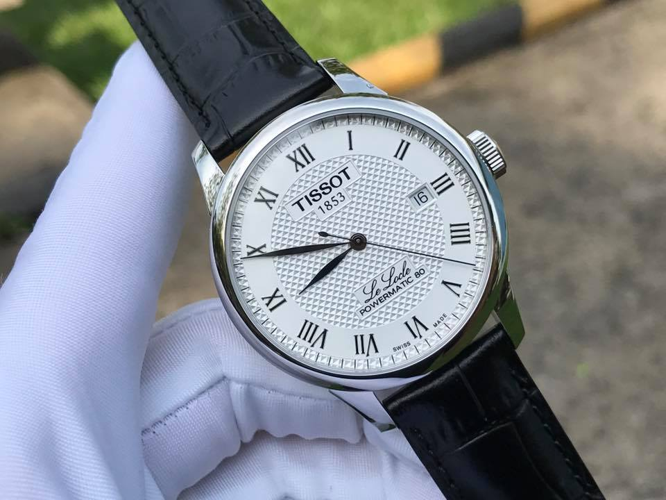 Tissot Le Locle Powermatic 80 White Leather - T006.407.16.033.00 (T0064071603300) - NAMWATCHES
